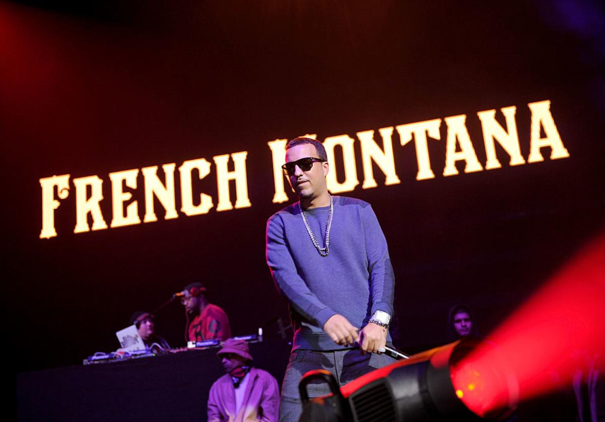 Rapper French Montana performs on stage at Power 105.1's Powerhouse 2014 at Barclays Center of Brooklyn on October 30, 2014 in New York City.