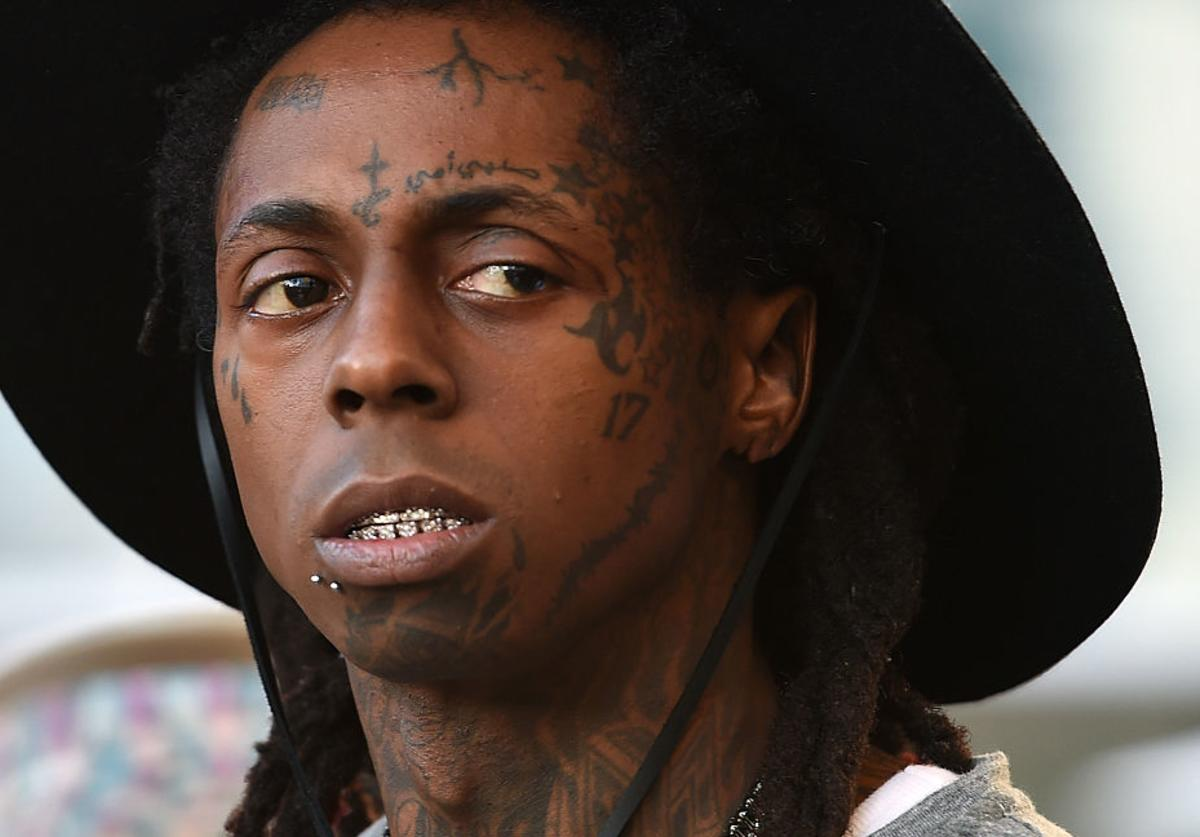 Lil' Wayne waits to perform at Foxtail Pool at SLS Las Vegas on September 6, 2015 in Las Vegas, Nevada.