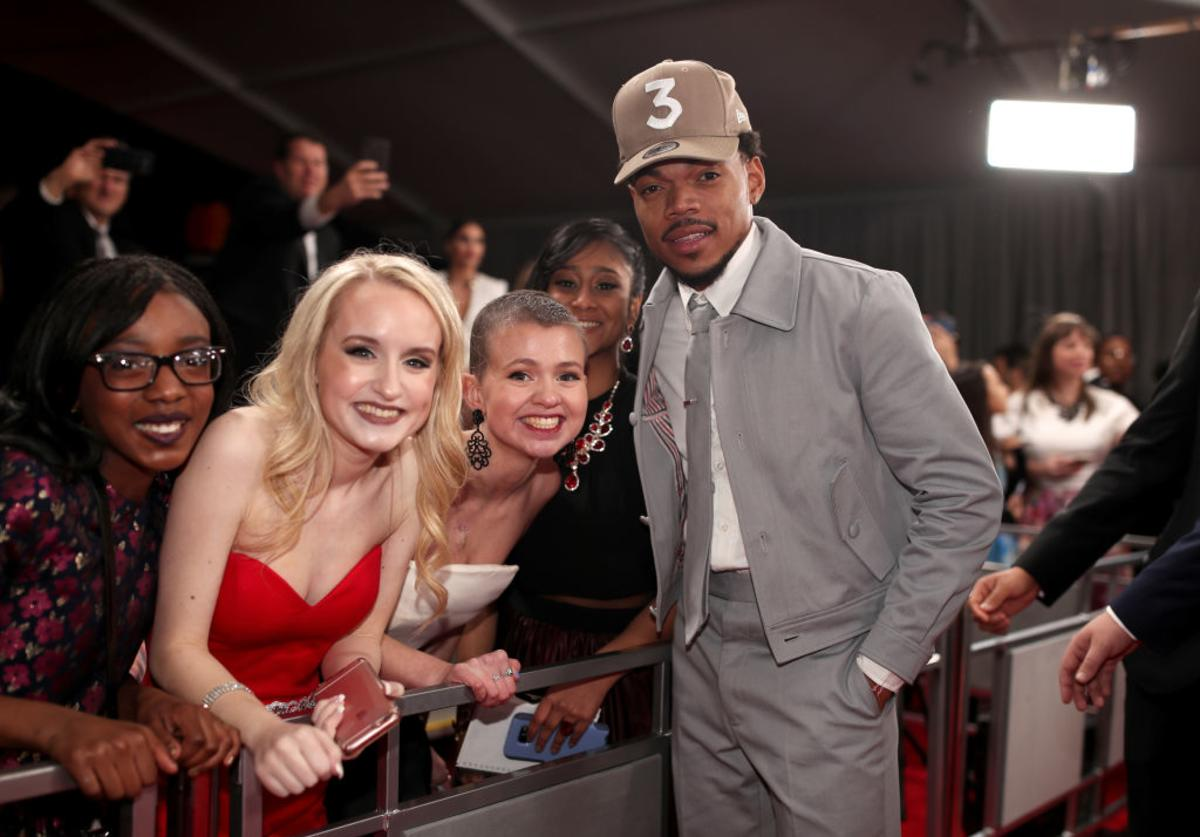 Rapper Chance The Rapper attends The 59th GRAMMY Awards at STAPLES Center on February 12, 2017 in Los Angeles, California.