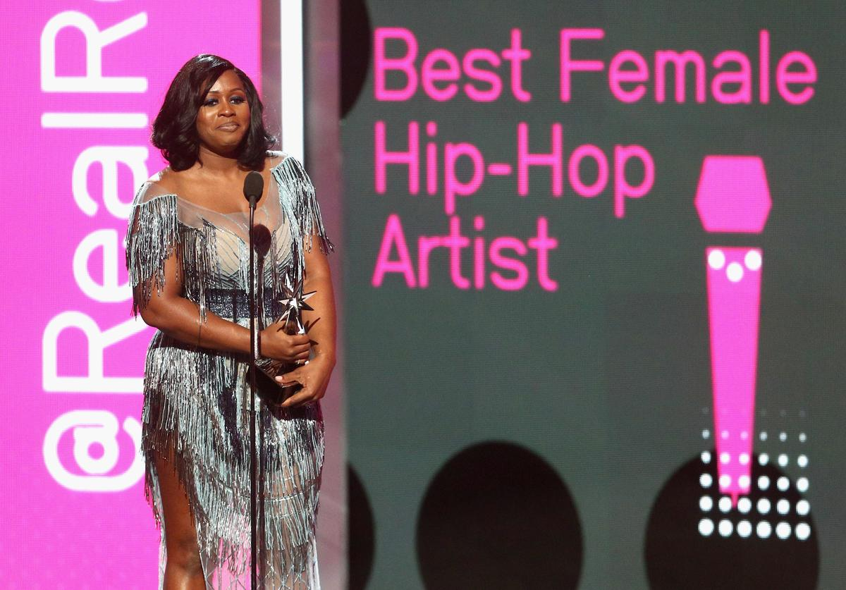 Remy Ma accepts the award for Best Female Hip Hop Artist onstage at 2017 BET Awards