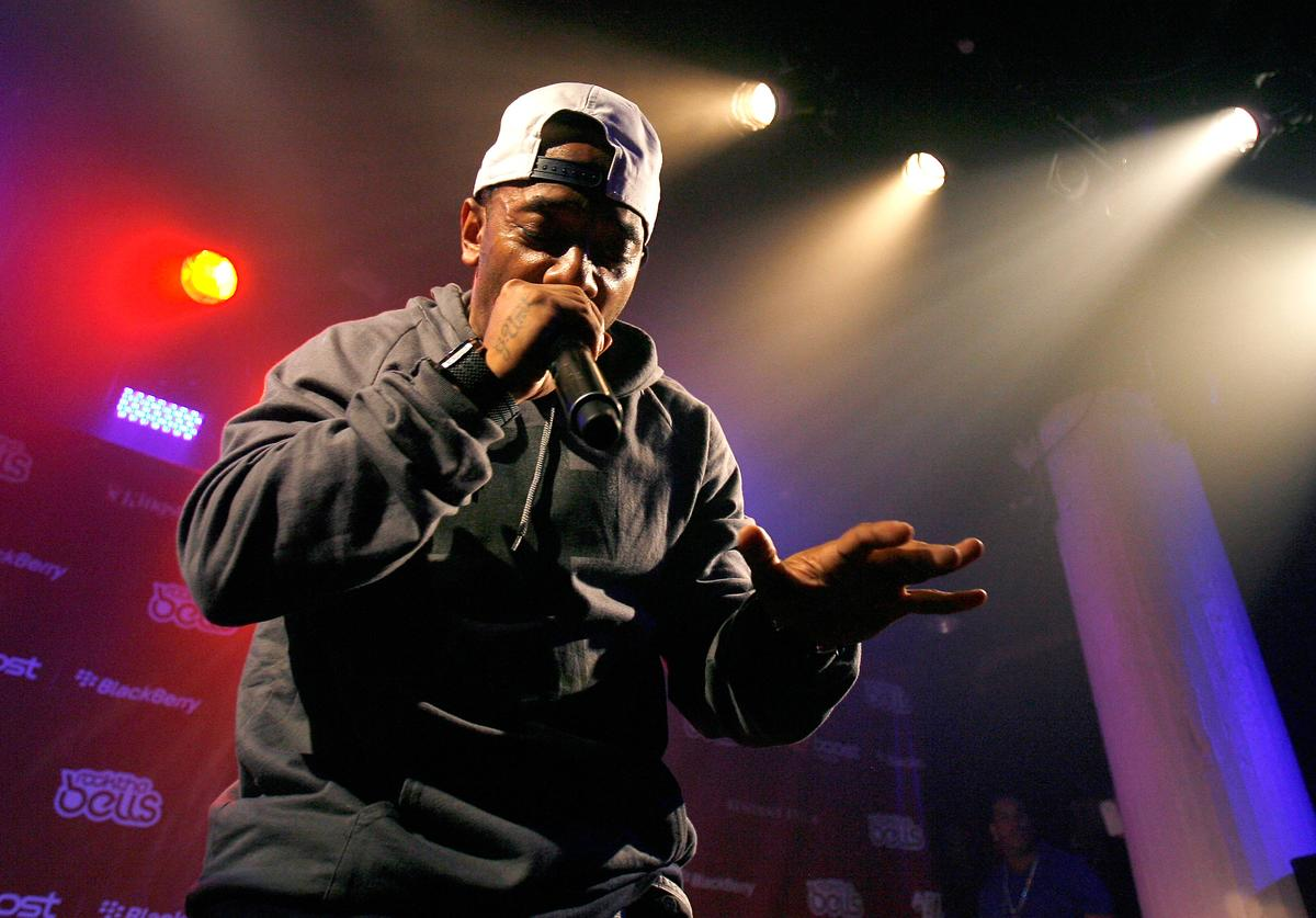 Prodigy performs during the 2012 Rock the Bells Festival