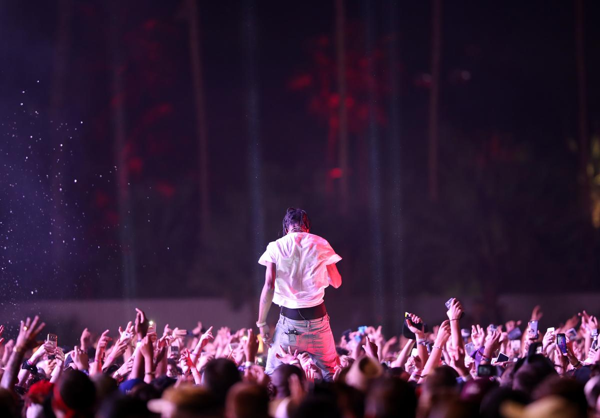 Travis Scott Performs at Coachella Valley Music Festival 2017