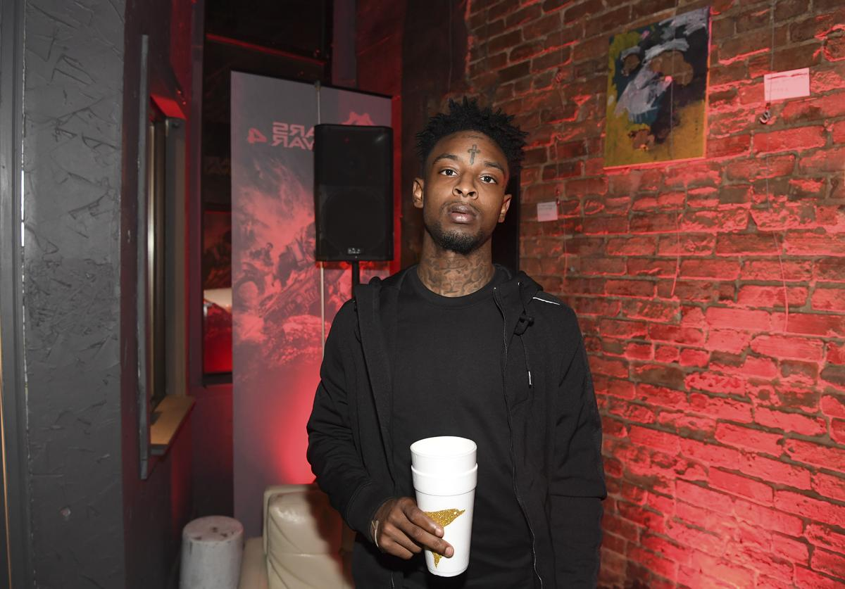 21 Savage attend Xbox And Gears Of War 4 launch event at Studio No. 7