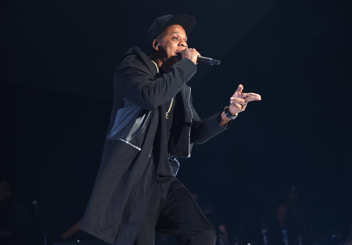 Jay-Z performs onstage during TIDAL X: 1020