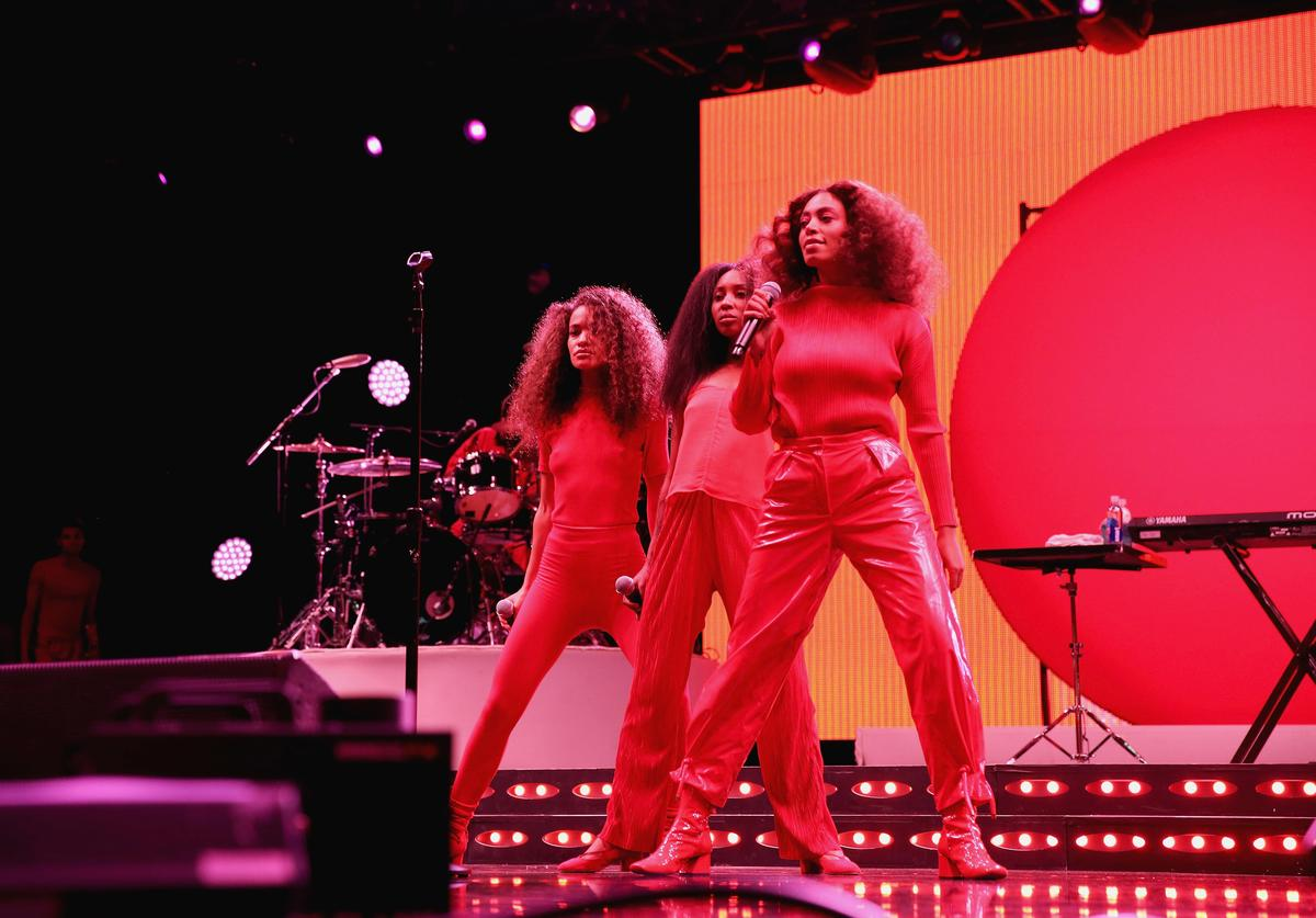 Solange Knowles performs onstage at the 2017 ESSENCE Festival