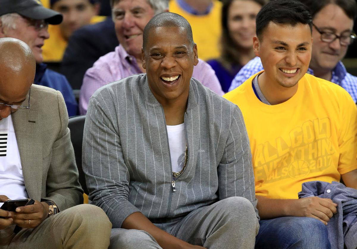 Jay Z at a basketball gamet