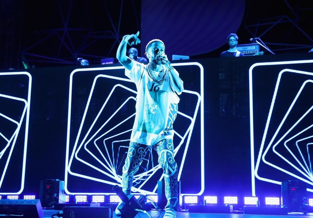 Big Sean performs onstage at Pandora Sounds Like You Summer at Los Angeles Memorial Coliseum on July 29, 2017 in Los Angeles, California.