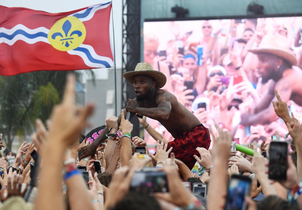 Tory Lanez performs at the Surf Stage during 2017 Hangout Music Festival on May 20, 2017 in Gulf Shores, Alabama.