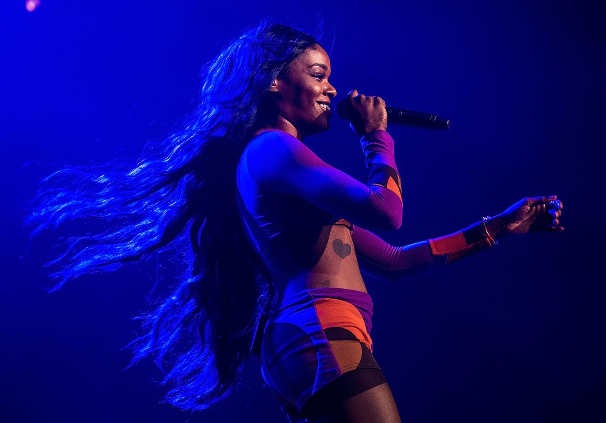 Azealia Banks performs for fans during Splendour in the Grass on July 25, 2015 in Byron Bay, Australia.