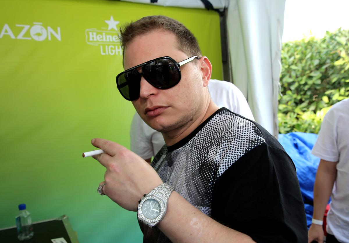 Scott Storchattends SiriusXM's 'UMF Radio' And Tiesto's Club Life Radio at the SiriusXM Music Lounge at W South Beach on March 26, 2014 in Miami Beach, Florida.