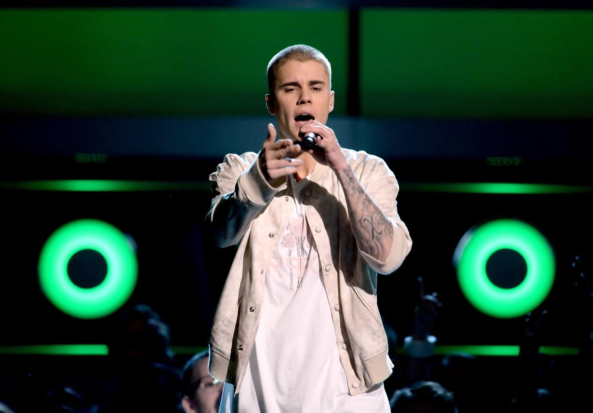 Recording artist Justin Bieber performs onstage during the 2016 Billboard Music Awards at T-Mobile Arena on May 22, 2016 in Las Vegas, Nevada.