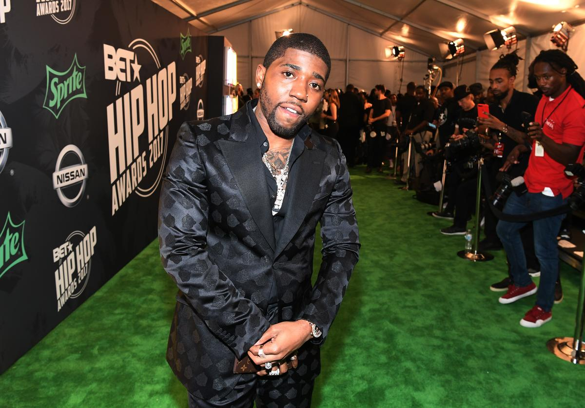 YFN Lucci attends the BET Hip Hop Awards 2017 at The Fillmore Miami Beach