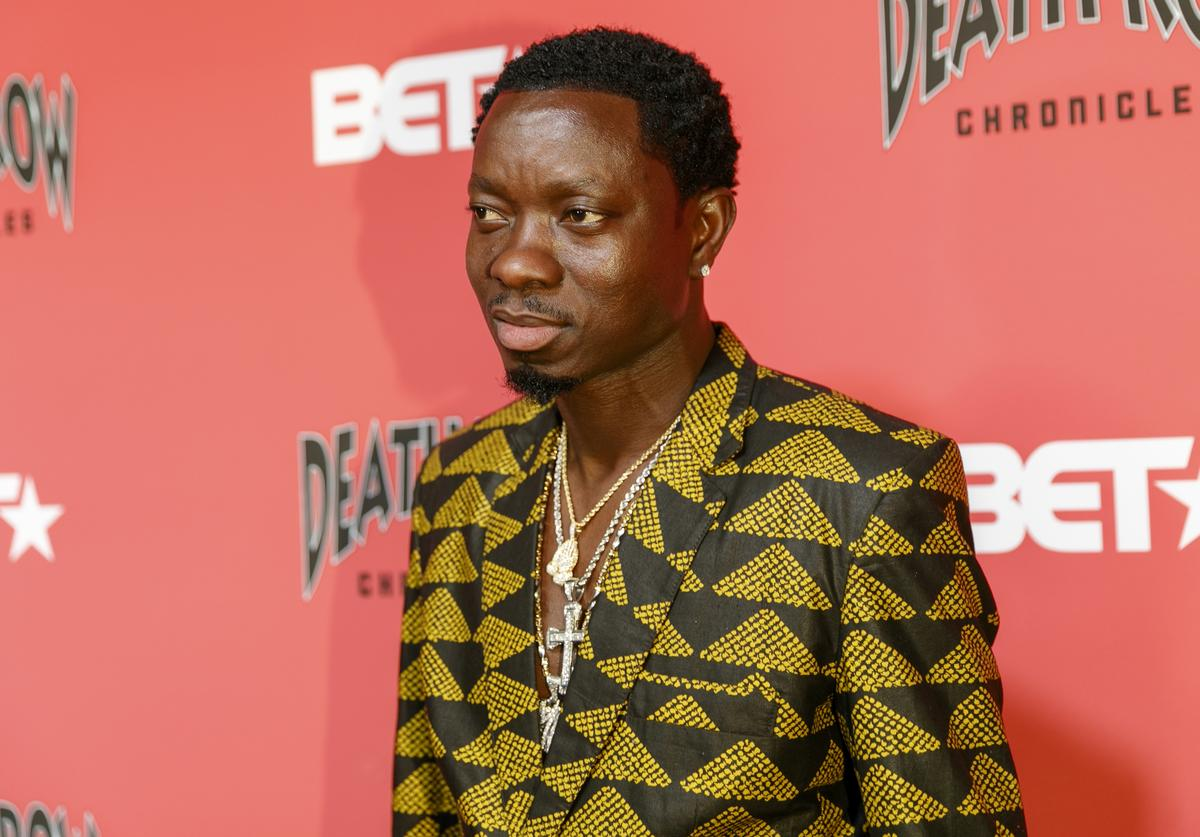Michael Blackson arrives at an event where BET NETWORKS Hosts an Exclusive Dinner & Performance for upcoming docuseries 'Death Row Chronicles'