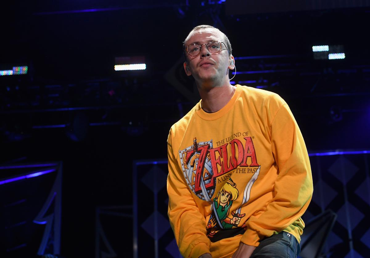 Logic performs onstage during Power 96.1's Jingle Ball 2017 Presented by Capital One at Philips Arena on December 15, 2017 in Atlanta, Georgia