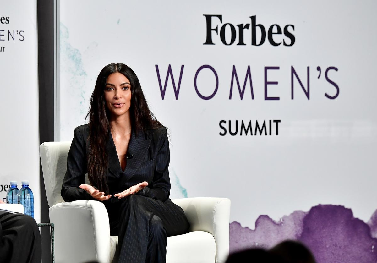 Kim Kardashian speaks onstage during the 2017 Forbes Women's Summit at Spring Studios on June 13, 2017 in New York City