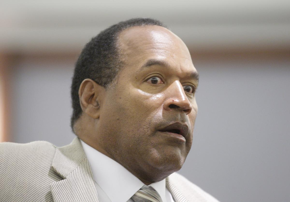 O.J. Simpson appears in District Court during his trial at the Clark County Regional Justice Center September 26, 2008 in Las Vegas, Nevada
