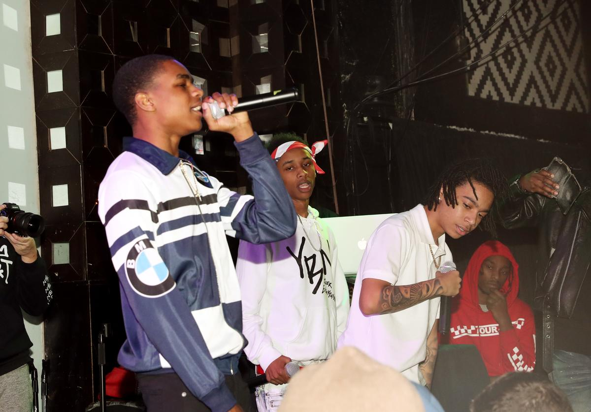 YBN Almighty Jay, DDG, and YBN Nahmir perform at S.O.B.'s on December 21, 2017 in New York City
