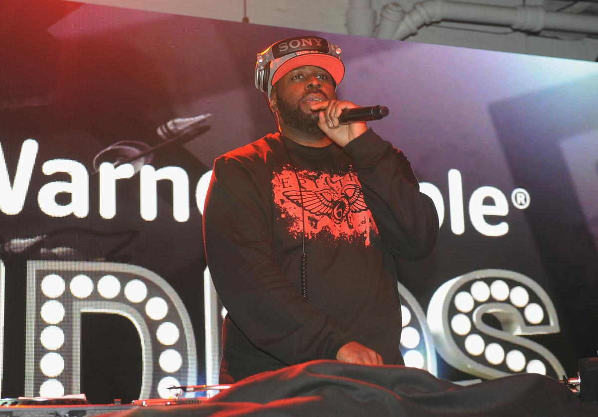 Funkmaster Flex performs at Time Warner Cable Studios and Revolt Bring the Music Revolution event on February 1, 2014 in New York City