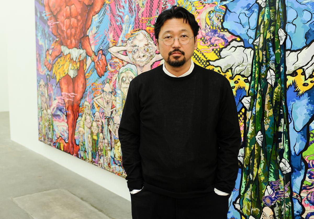 Takashi Murakami attends the Takashi Murakami Private Preview at Blum & Poe on April 11, 2013 in Los Angeles, California