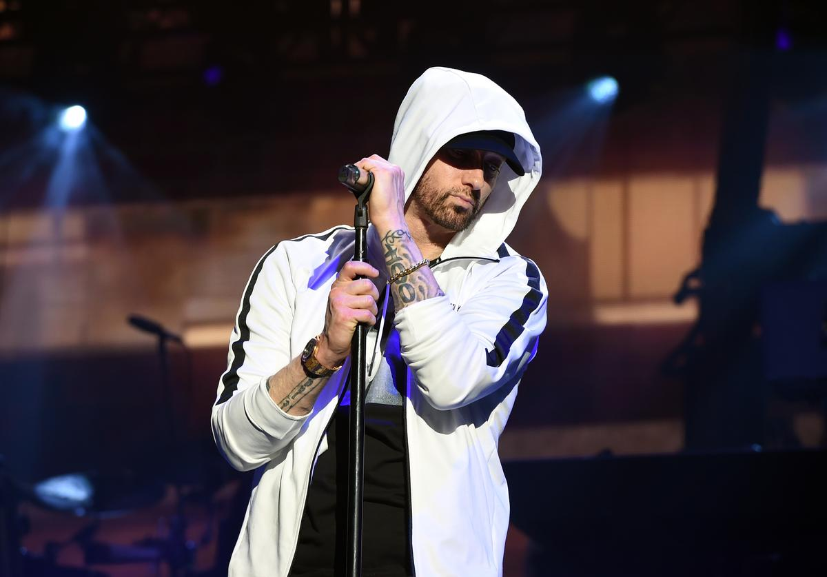 Eminem performs onstage during the 2018 Coachella Valley Music and Arts Festival Weekend 1 at the Empire Polo Field on April 15, 2018 in Indio, California