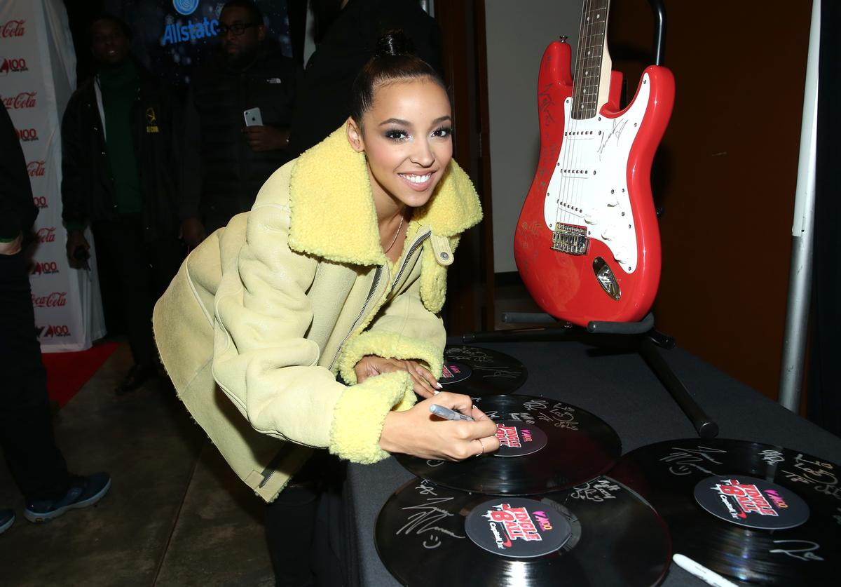 Tinashe attends Z100 & Coca-Cola All Access Lounge at Z100's Jingle Ball 2016 Presented by Capital One pre-show at Hammerstein Ballroom on December 9, 2016 in New York City