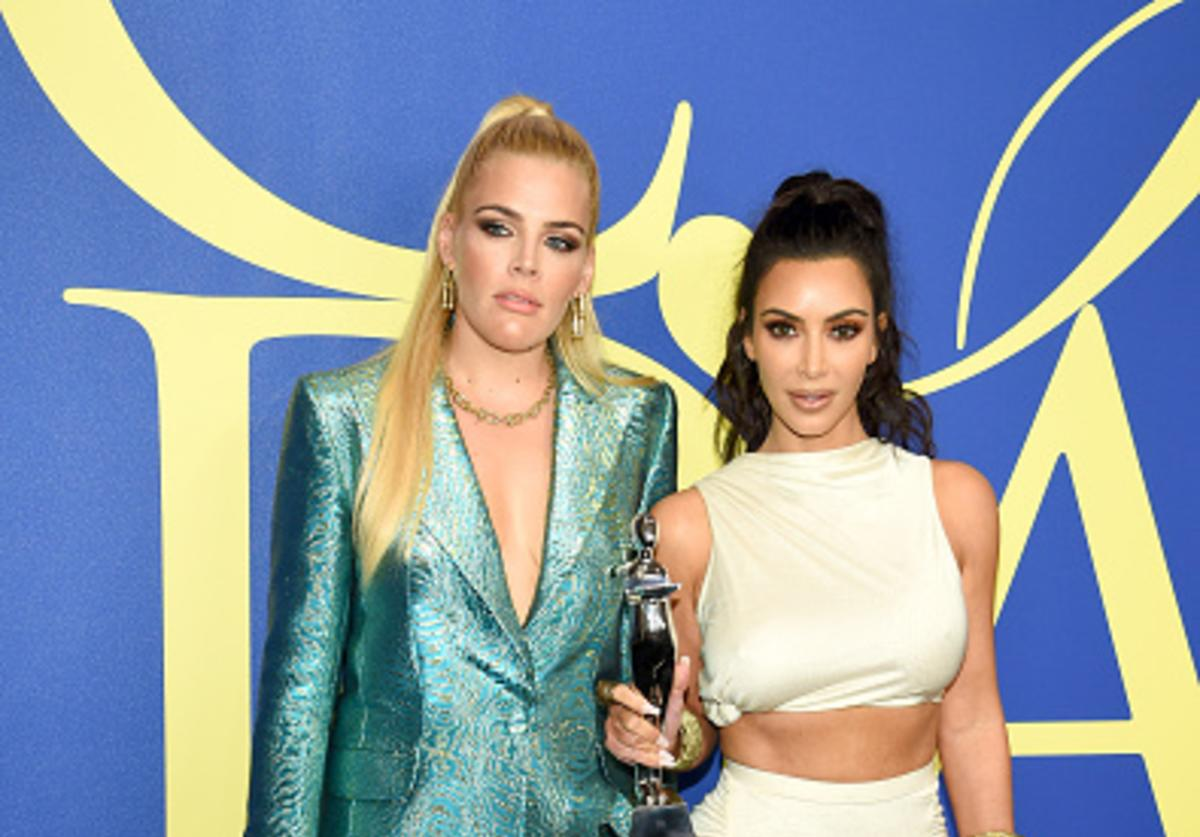 Busy Phillips and 2018 CFDA Influencer Award Winner Kim Kardashian West attend the 2018 CFDA Fashion Awards at Brooklyn Museum on June 4, 2018 in New York City