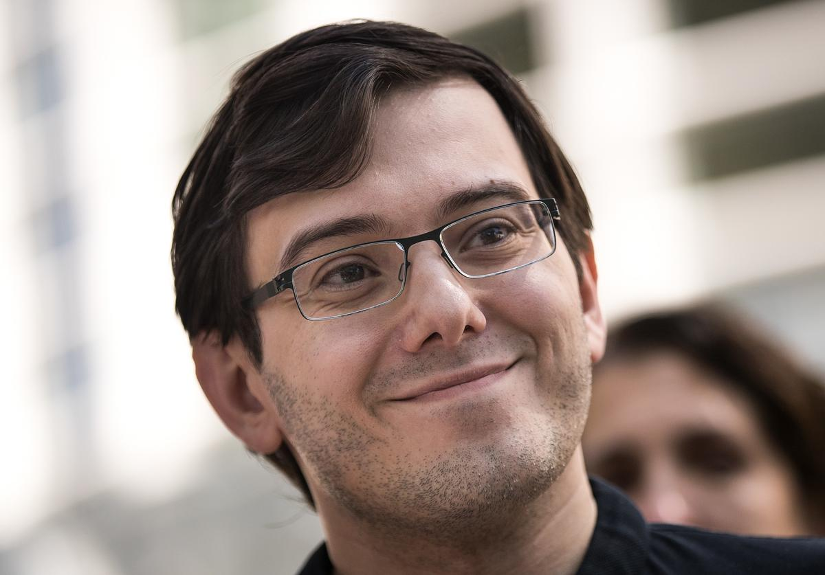 Martin Shkreli speaks to the press after the jury issued a verdict in his case at the U.S. District Court for the Eastern District of New York, August 4, 2017 in the Brooklyn borough of New York City