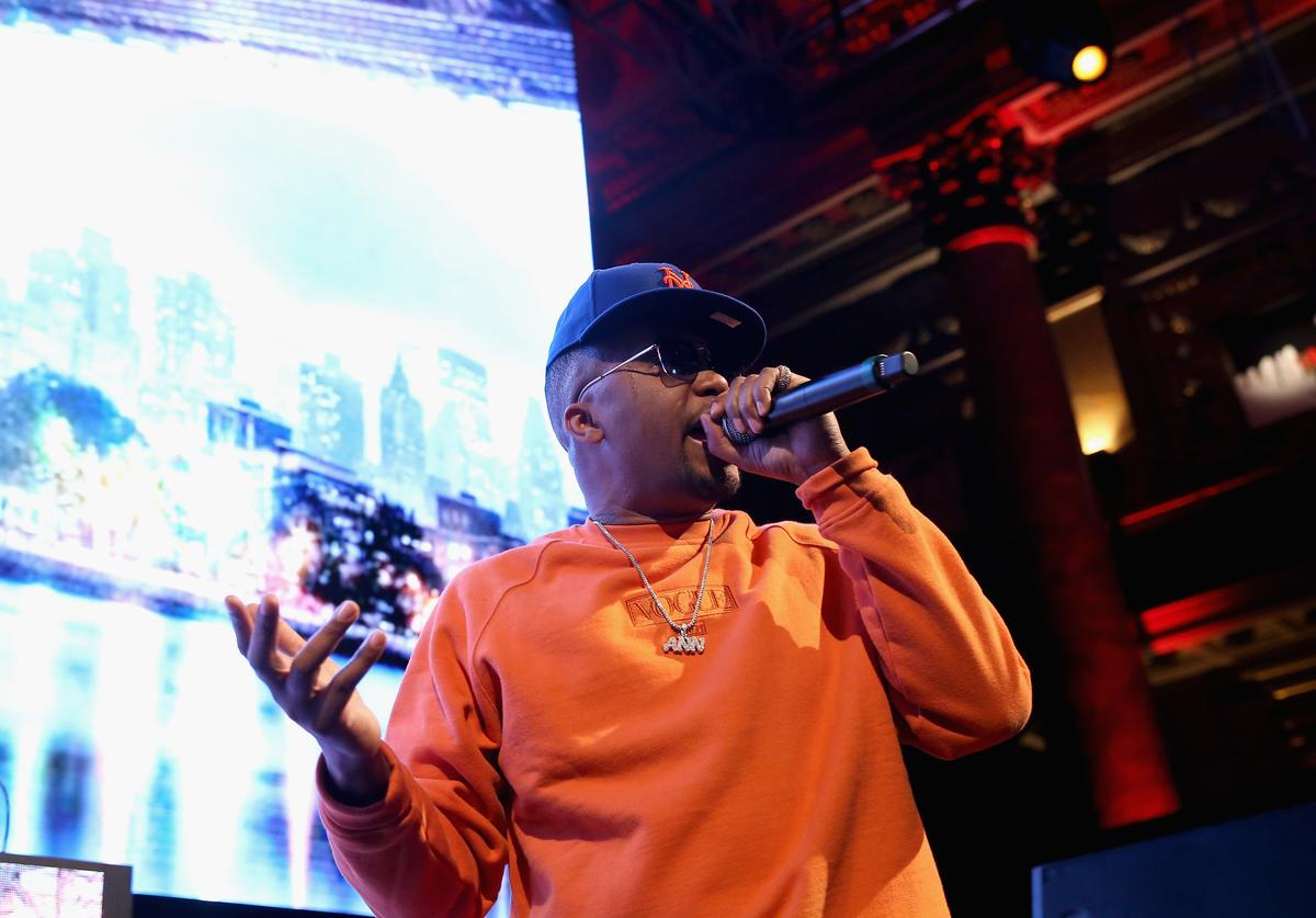 Nas performs at JennAir's 'Unbound: The After Party' at Capitale on March 22, 2018 in New York City