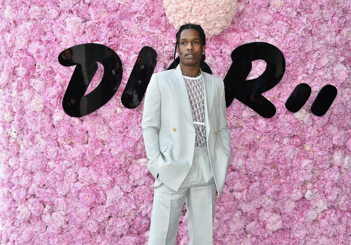 ASAP Rocky attends the Dior Homme Menswear Spring/Summer 2019 show as part of Paris Fashion Week on June 23, 2018 in Paris, France