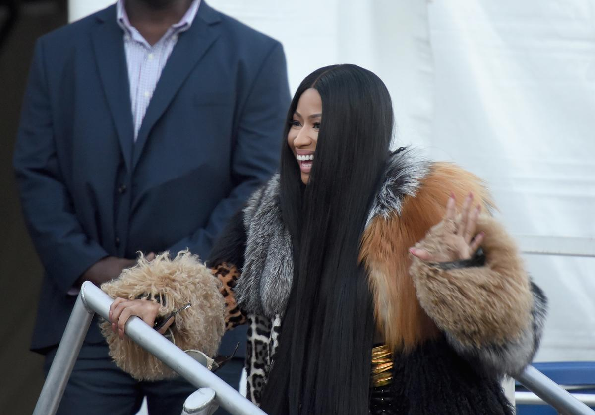 Nicki Minaj poses backstage with future during the Meadows Music and Arts Festival - Day 2 at Citi Field on September 16, 2017 in New York City