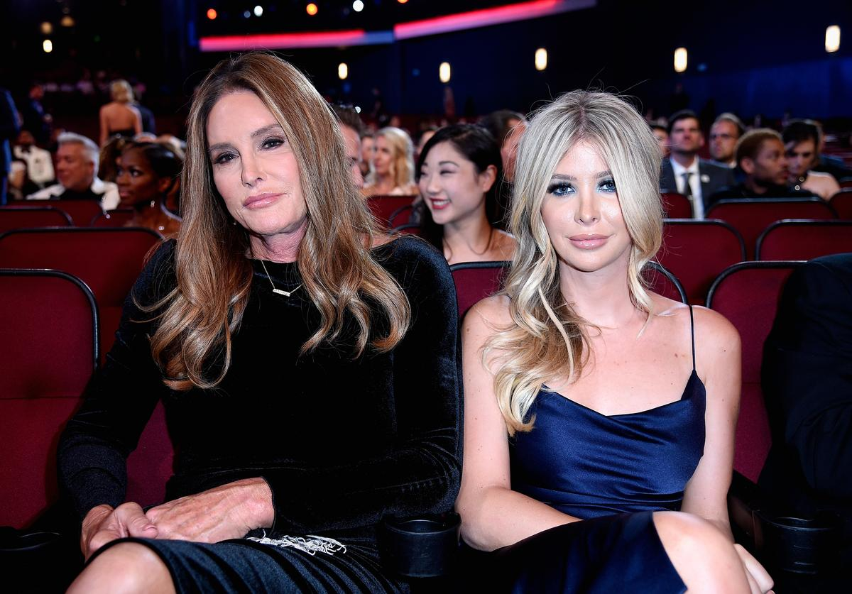 Caitlyn Jenner (L) and Sophia Hutchins attend The 2018 ESPYS at Microsoft Theater on July 18, 2018 in Los Angeles, California