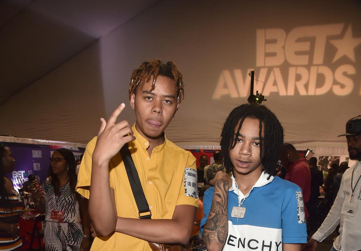 YBN Cordae (L) and YBN Nahmir attend day one of the 2018 BET Awards Radio Remotes on June 22, 2018 in Los Angeles, California