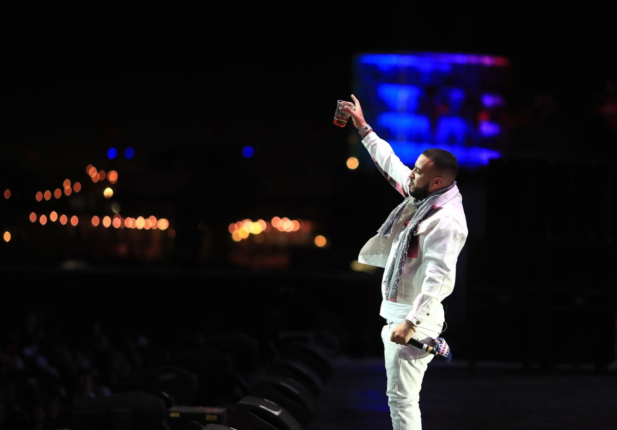 French Montana performs onstage during the 2018 Coachella Valley Music And Arts Festival at the Empire Polo Field on April 22, 2018 in Indio, California