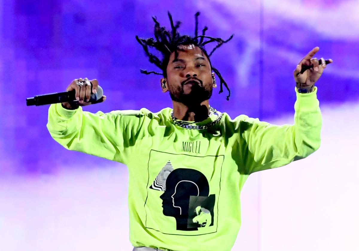 Miguel performs onstage during the 2018 iHeartRadio Music Festival at T-Mobile Arena on September 21, 2018 in Las Vegas, Nevada