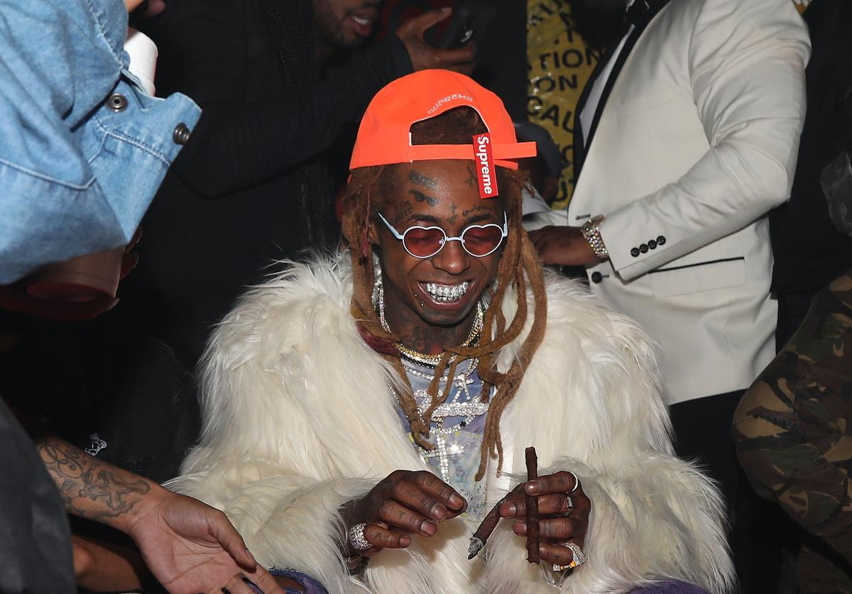 Lil Wayne attends his 36th birthday party and Carter V release at HUBBLE on September 28, 2018 in Los Angeles, California