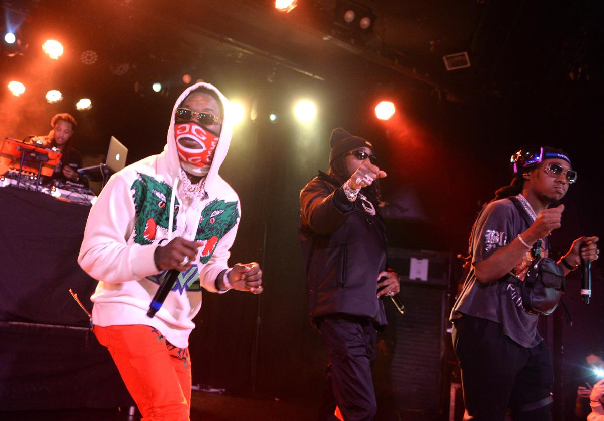 Migos performs at Migos Exclusive World Series Event at the Roxy on October 28, 2018 in Los Angeles, California