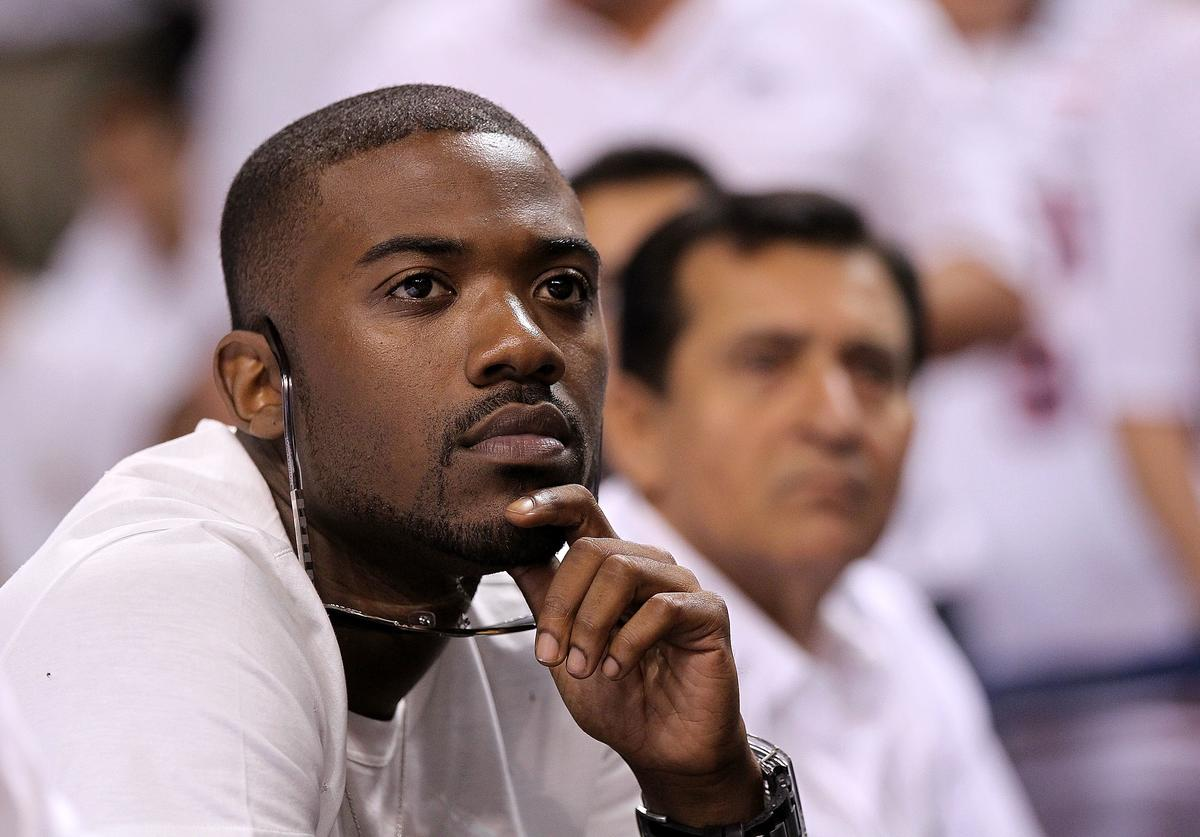 Ray J watches Game One of the Eastern Conference Semifinals of the 2011 NBA Playoffs between the Miami Heat and the Boston Celtics at American Airlines Arena on May 1, 2011 in Miami, Florida
