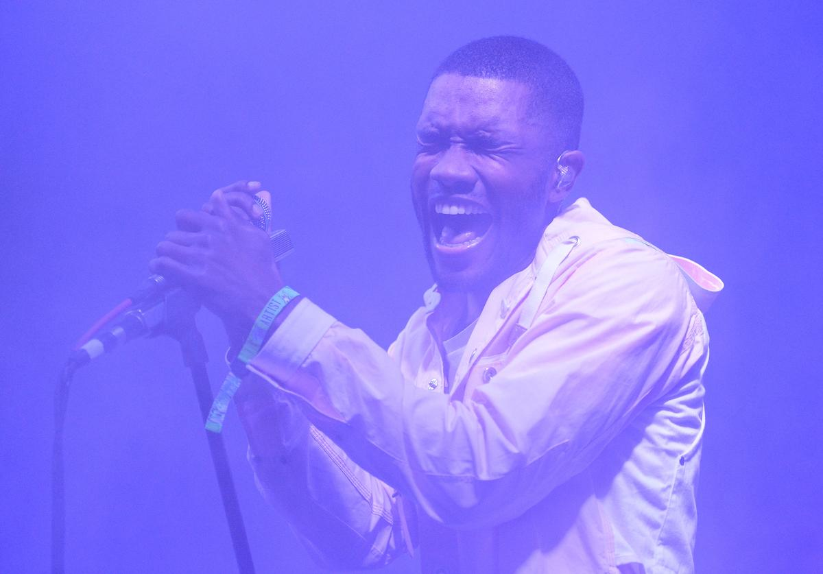 Frank Ocean performs during the 2014 Bonnaroo Music & Arts Festival on June 14, 2014 in Manchester, Tennessee