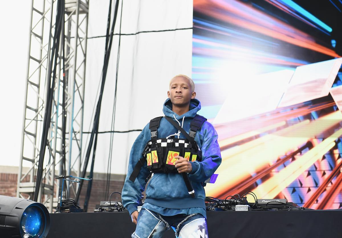 Jaden Smith performs onstage during the Jaden Smith + G-Star RAW Forces of Nature collection reveal at Hypefest on October 6, 2018 in Brooklyn, New York