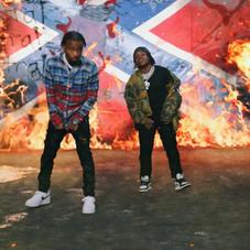 "42 Dugg & Roddy Ricch Burn A Giant Confederate Flag In ""4 Da Gang"" Video"