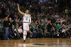 """Jayson Tatum Debuts Nike Kyrie 4 """"Green Lobster"""" In Game 5"""