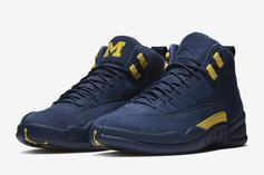 "Air Jordan 12 ""Michigan"" Releasing At Select Retailers Tomorrow"