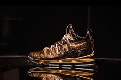 """Nike LeBron 15 """"Diamond And Gold"""" 1-Of-1 Customs Unveiled"""