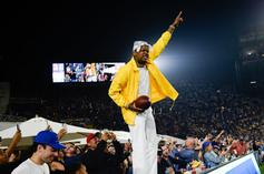 YG Performs At Vikings vs Rams Game, Receives Game Ball After TD