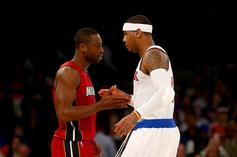Dwyane Wade Shows Support For Carmelo Anthony Amid Rockets Rumors