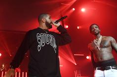 "Gucci Mane Re-iginites ""Rivalry"" With Drake By Donning Giannis Jersey In Toronto"