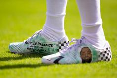 Eagles' DeSean Jackson Honors Nipsey Hussle With Custom Cleats