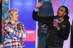 """Justin Bieber's """"Intentions"""" Is Now Quavo's 6th Top 10 Solo Hit"""