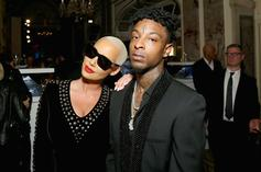 "Amber Rose Talks 21 Savage Romance, Says He's ""Scared To Be Loved"""