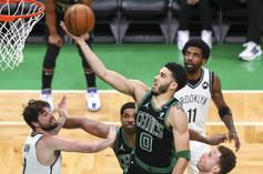 Jayson Tatum Reacts After Scoring 50 Points Against The Nets
